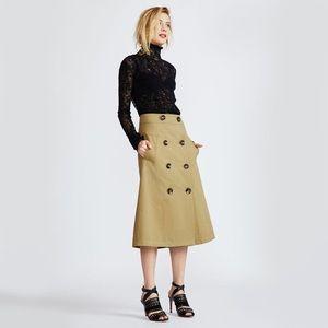 Navy midi skirt.